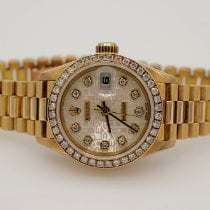 Rolex Lady-Datejust Yellow gold 26mm Champagne No numerals United States of America, California, Marina Del Rey