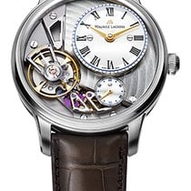 Maurice Lacroix Masterpiece Gravity Satin Steel Case, White...