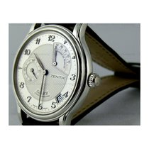 Zenith Platinum Manual winding Silver No numerals 36mm new Elite