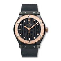 Hublot Classic Fusion 42mm Automatic Black Ceramic Mens Watch...