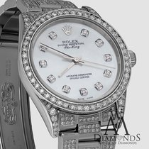 Rolex Ladies Rolex Air-king 34mm Stainless Steel Diamond Watch