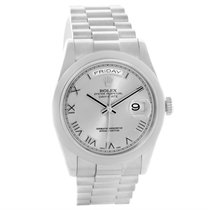 Rolex President Day-date 18k White Gold Mens Watch 118209