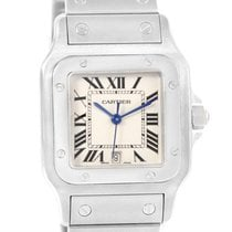 Cartier Santos Galbee Quartz Stainless Steel Date Watch W20060d6