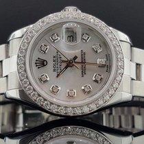 Rolex Datejust 26mm Ref 69160 1 CT Diamond Bezel MOP Dial...