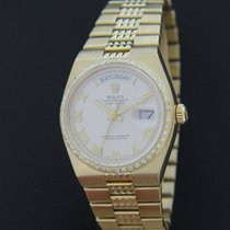 Rolex Oysterquartz Day-Date Pyramid Yellow Gold Diamonds 19038