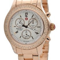 Michele Jetway Womens Gold tone Diamond set Bracelet watch