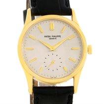 Patek Philippe Calatrava 18k Yellow Gold Hobnail Bezel Watch 3796
