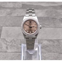 Rolex Oyster Perpetual With Copper Diamond Dial & Bezel