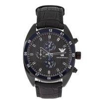 Armani NEW  Sportivo AR5916 Chronograph Black Leather Men's...