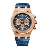 Audemars Piguet Royal Oak Chronograph Rose gold 41mm Blue No numerals United States of America, Iowa