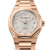Girard Perregaux Laureato Rose gold 38mm Silver