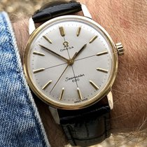 Omega Vintage Mens 1960s Seamaster 600 crosshair dial gold watch