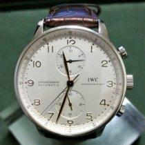 IWC Portuguese Chronograph подержанные 41mm Хронограф Кожа