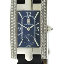 Harry Winston Avenue pre-owned 21mm Blue Leather