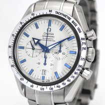 Omega Speedmaster Broad Arrow Steel 42mm White