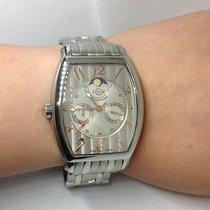 Gevril Acier 36mm Quartz 010-4917 nouveau
