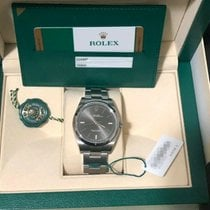 Rolex Steel Automatic Grey No numerals 39mm new Oyster Perpetual 39
