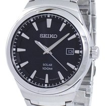 Seiko new Quartz Luminescent Hands 39mm Steel Mineral Glass