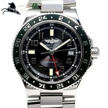 Breitling Superocean GMT Steel 41mm Black