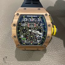 Richard Mille RM 011 Roségoud 49.94mm Doorzichtig Arabisch