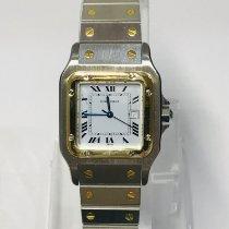 Cartier Santos (submodel) Złoto/Stal 29mm Biały Rzymskie