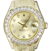Rolex Champán 29mm usados Lady-Datejust Pearlmaster