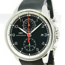 IWC Portuguese Yacht Club Chronograph pre-owned 45mm Black Chronograph Rubber