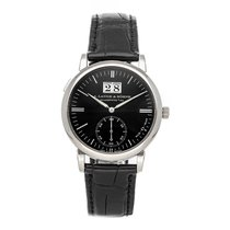 A. Lange & Söhne Langematik White gold 37mm Black No numerals United States of America, Pennsylvania, Bala Cynwyd