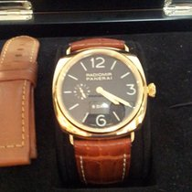 Panerai Or jaune Remontage automatique Noir Arabes 45mm occasion Radiomir 8 Days