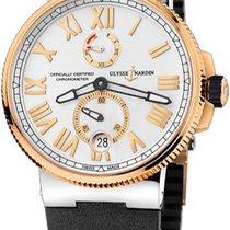 Ulysse Nardin 1185-122-3-41 Gold/Steel 2012 Marine Chronometer Manufacture new