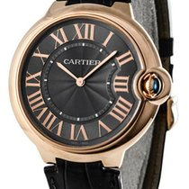 Cartier Ballon Bleu XFlat Gray Dial Leather Auto Men's Watch...