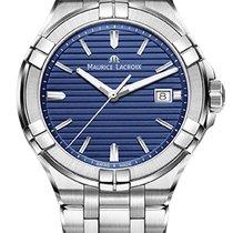 Maurice Lacroix AIKON GENTS  blue case and steel bracelet 42mm...