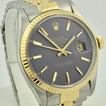 Rolex Datejust 36mm Steel &18k Gold Blue Dial