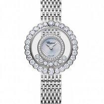 Chopard 204180-1201 Bílé zlato Happy Diamonds 30mm nové