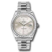 Rolex Day-Date 40 Platin 40mm Sølv