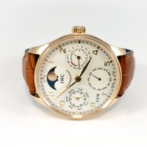 IWC Portuguese Perpetual Calendar pre-owned 42mm Rose gold