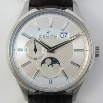 Zenith Captain Moonphase Steel 40mm Silver No numerals