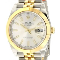 Rolex Datejust II Gold/Steel 41mm Silver No numerals