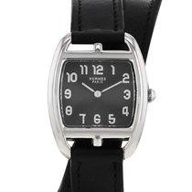 Hermès Cape Cod Steel 26mm Black Arabic numerals