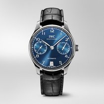 IWC Portuguese Automatic Acier 42.3mm Bleu Arabes France, Paris