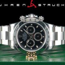 Rolex Daytona Acél 40mm Fekete Számjegyek nélkül