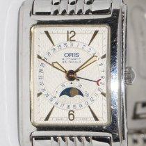 Oris Rectangular Steel 26mm Silver Arabic numerals