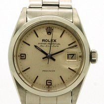Rolex Air King Date Staal 34mm Wit Romeins