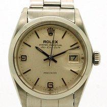 Rolex (ロレックス) エアキング デイト ステンレス 34mm ホワイト ローマインデックス