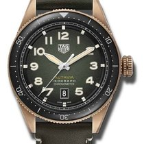 TAG Heuer Bronze Automatic Green 42mm new Autavia