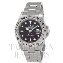 Rolex pre-owned Automatic 40mm Black Sapphire Glass