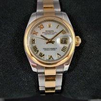 Rolex Lady-Datejust подержанные 26mm Перламутровый Дата Золото/Сталь