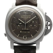 Panerai Luminor 1950 8 Days Chrono Monopulsante GMT PAM 311 2004 nieuw