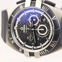 Omega Titanium Automatic Black No numerals 41mm new Constellation Double Eagle