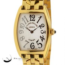 Franck Muller Curvex Solid 18k Yellow Gold Watch Ref 1752qzd...